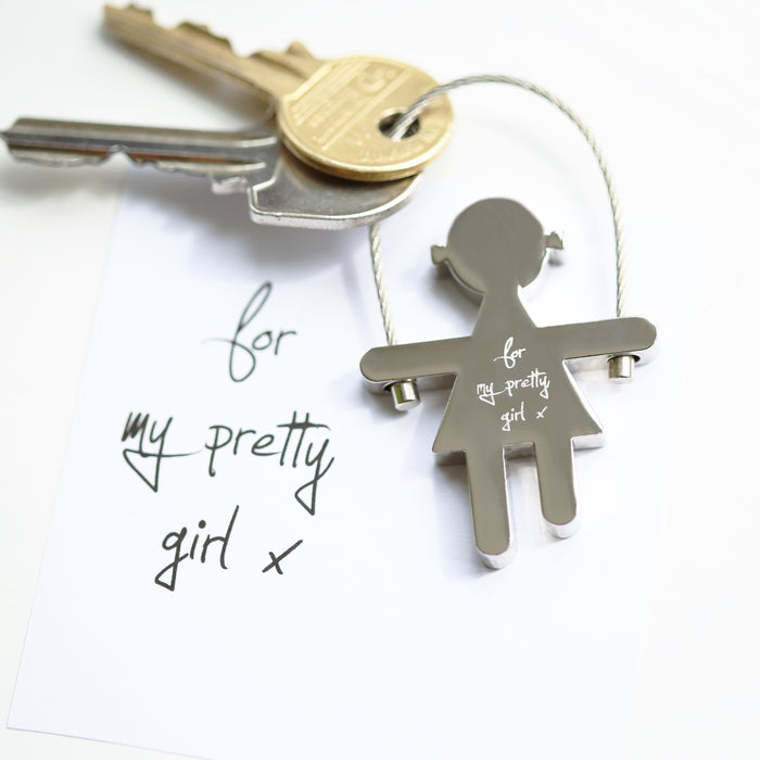 Skipping Sally Key Ring Handwriting Engraving