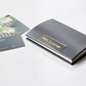 Engraved Business Card / Credit Card Holder