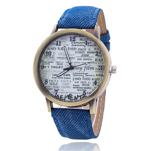 Denim casual Watch