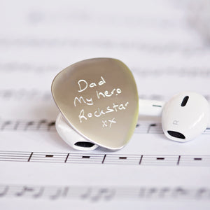 Guitar Pick Engraved - Own Handwriting