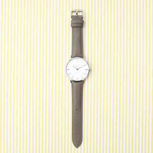 Mr Beaumont of London Men's Grey Watch With Personalisation
