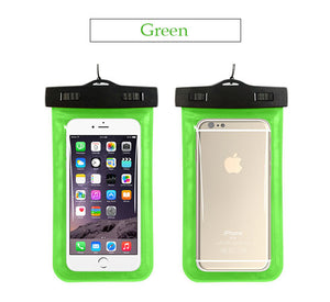 Waterproof Phone Beach Case Green