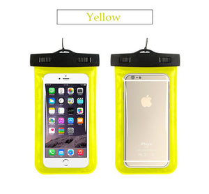 Waterproof Phone Beach Case Yellow