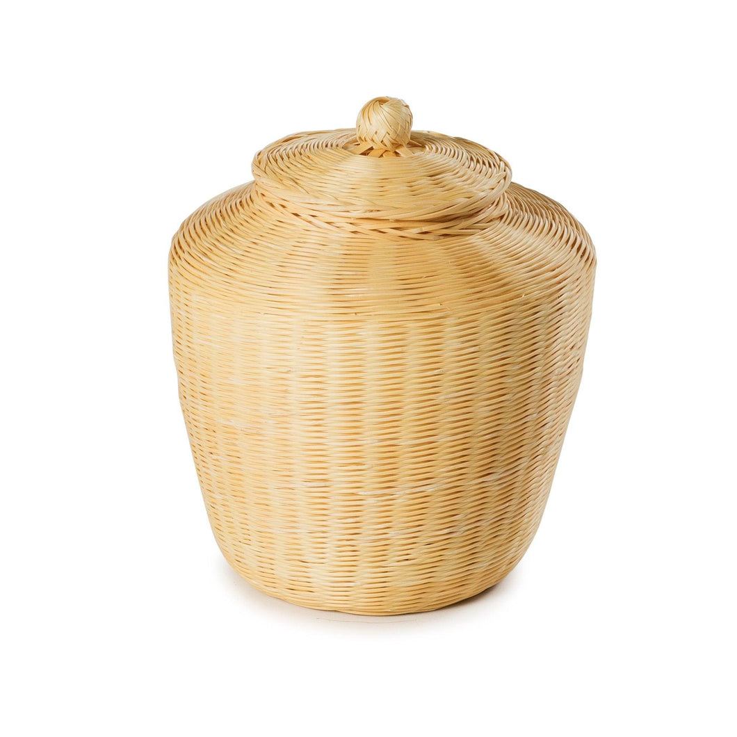 Handcrafted Bamboo Urn - from thinkwillow.com