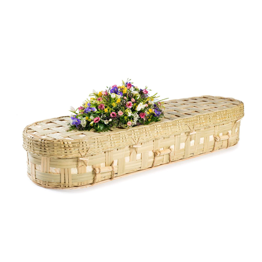 Bamboo Eco Rounded Coffin - Thinkwillow.com Free UK mainland delivery