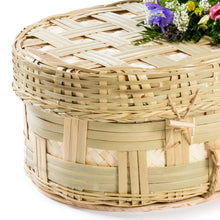 Bamboo Rounded Wicker Coffin