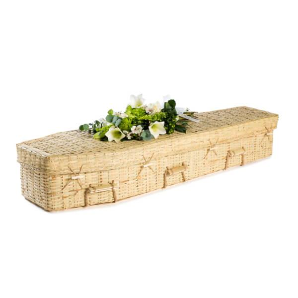 Bamboo Traditonal Wicker Coffin