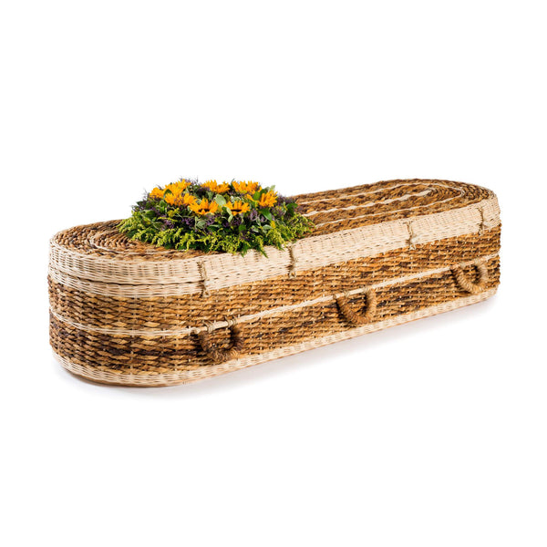Banana Leaf Rounded Coffin