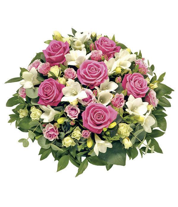Pink and White Rose Posy