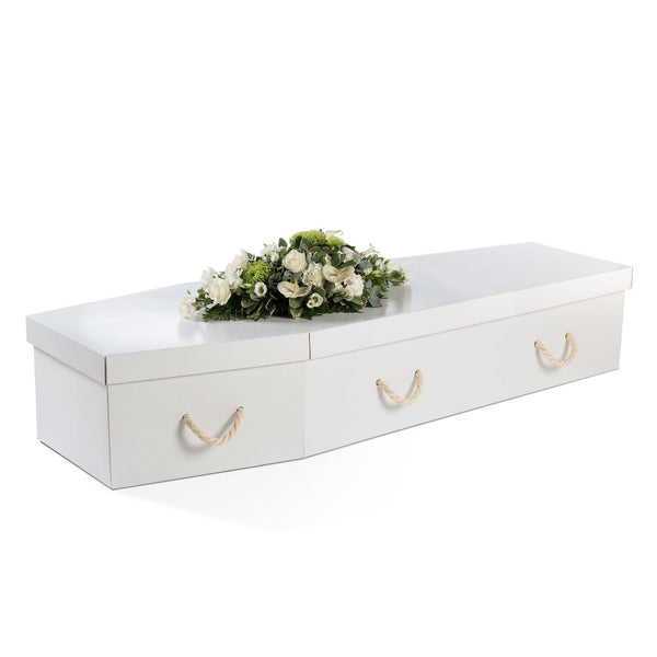White Cardboard Coffin - Free UK mainland delivery thinkwillow.com