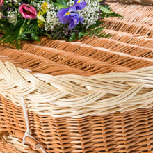 English Willow Rounded Coffin detail  - thinkwillow Free UK delivery