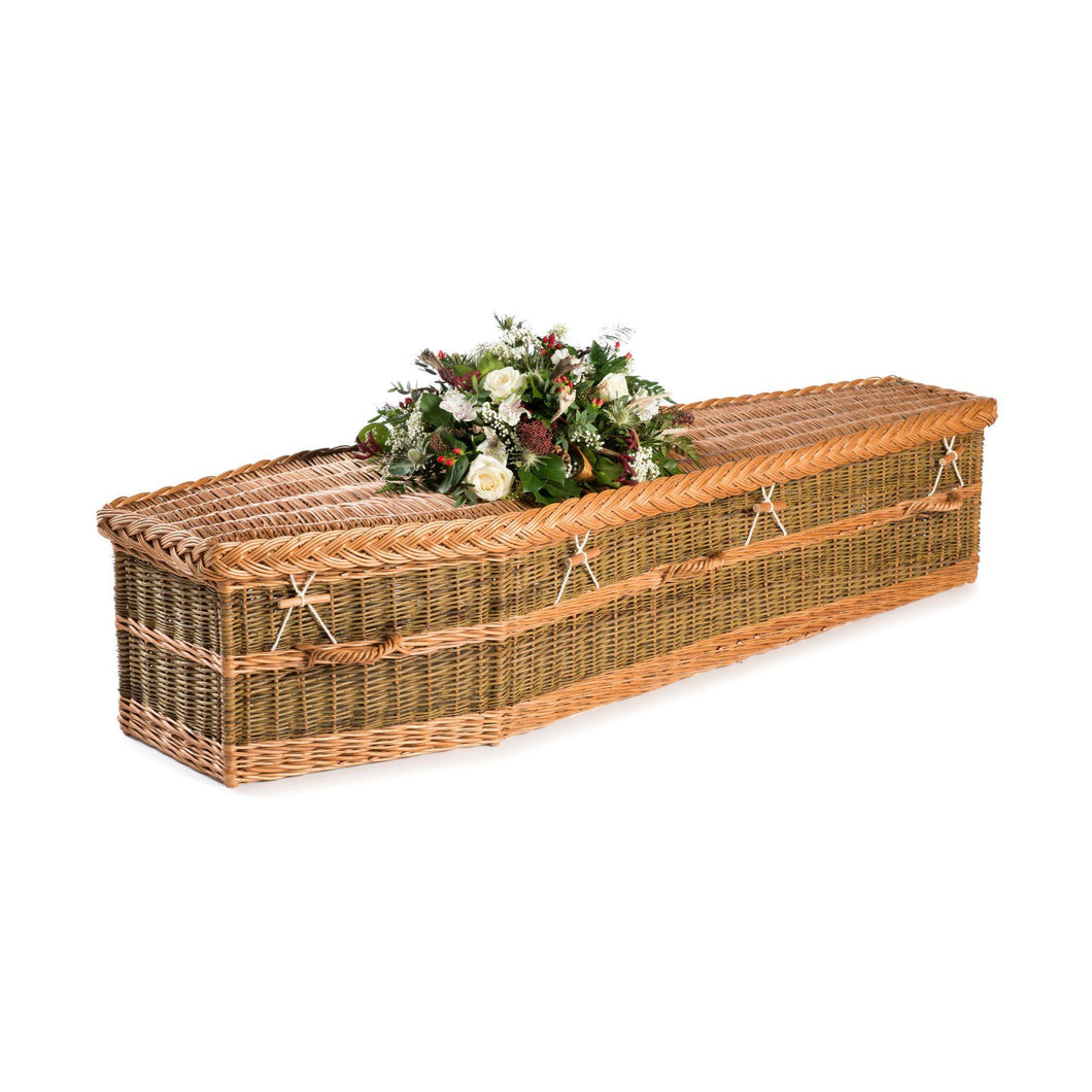 English Traditional Willow Coffin  - Free UK delivery. Thinkwillow.com