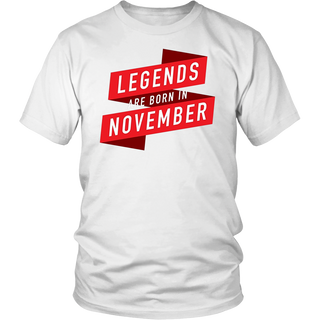 Legends Are Born In November Birthday Gift 2018 T-Shirt