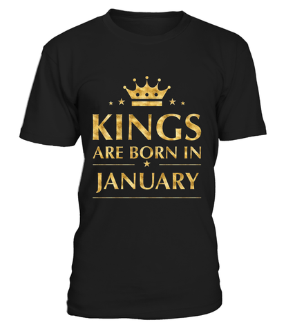 Kings Are Born In January Tshirt Emoji birthday