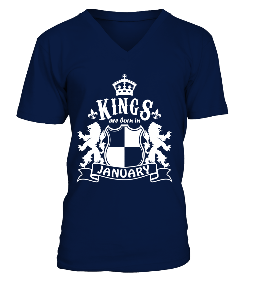 Kings Are Born in January Shirt Birthday Gifts for Men Boys