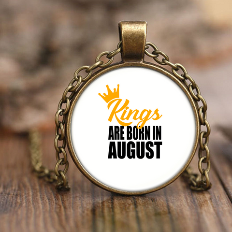Kings Are Born In August Necklace 22000+ SOLD!!