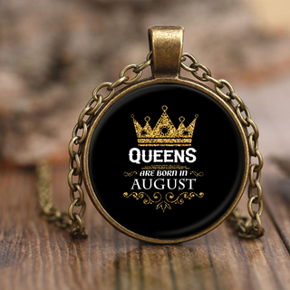 Queens Are Born In August Necklace