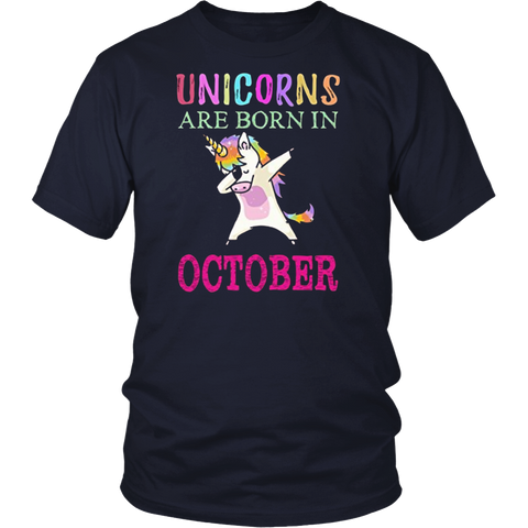 Unicorns Are Born In October T-Shirt Hoodie