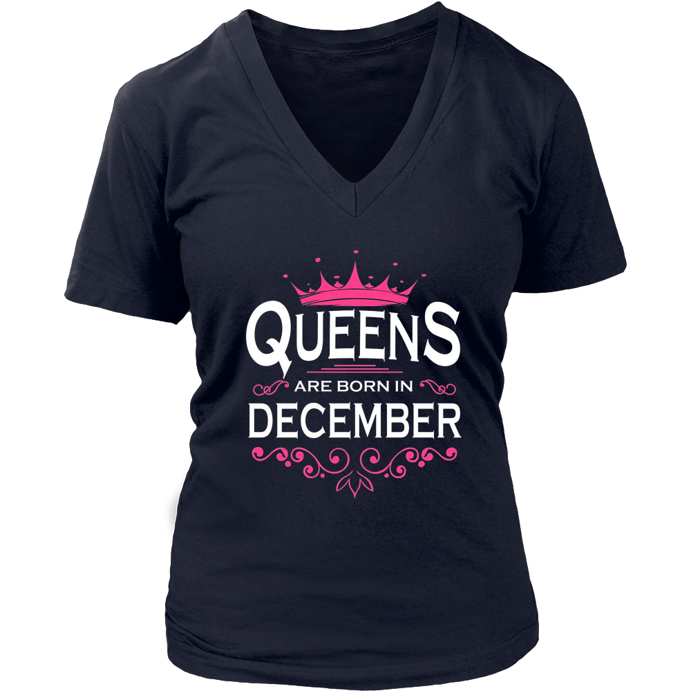 Queens Are Born In December T-Shirt, Birthday Tee Shirt