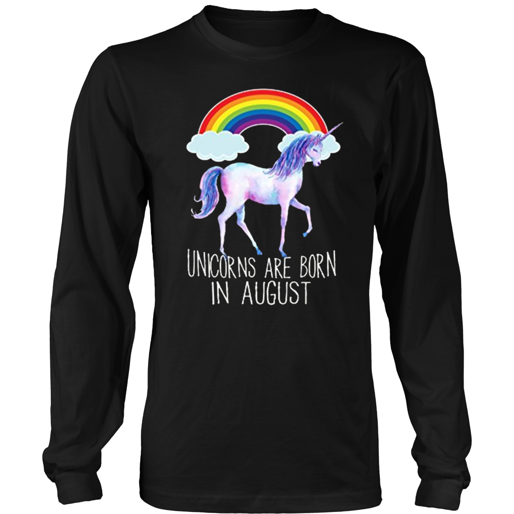 Unicorns Are Born In August Cute Summer Gift T-Shirt