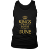 MEN'S KINGS ARE BORN IN JUNE BIRTHDAY NOVELTY T-SHIRT