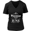 Girls and Women's Princesses are Born in June Shirt
