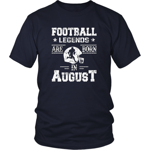 Basketball Legends Are Born In August Birthday Gift T-shirt