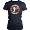 virgo round zodiac sign T-shirt
