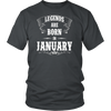 Legend Are Born In January Premium Edition T-shirt
