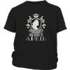 Queens Are Born In April Shirt Funny April Birthday Gift Tee