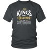 Mens Kings are Born in September Vintage C1 Funny T-shirt