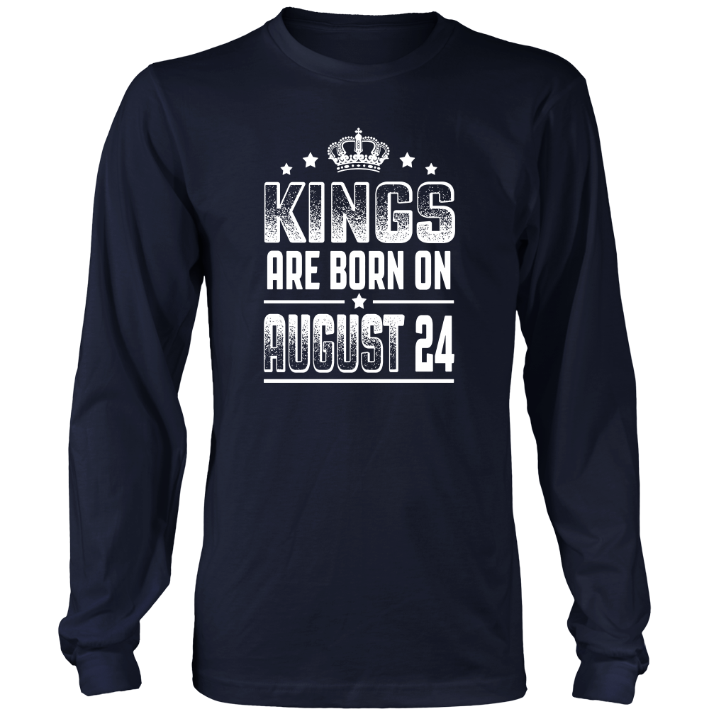 Kings Are Born On August 24 Birthday T-shirt Gift Shirt