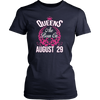 Queens Are Born On August 29 Birthday T-shirt Gift
