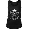 PRINCESSES ARE BORN IN JULY-BIRTHDAY GIFT T-SHIRT