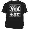 Legends Are Born On August 12 T Shirt August Birthday Gifts