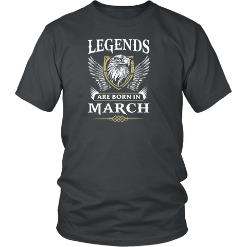 Legends Are Born In March T Shirt - March Birthday Shirt