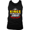 King are born in January Tshirt Birthday gift shirt