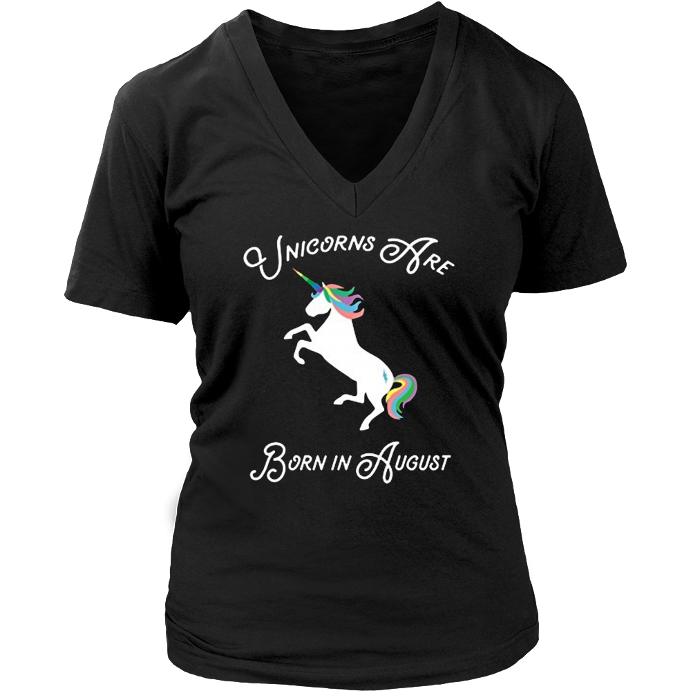 Fancy Magical Unicorns Are Born In August Birthday Shirt