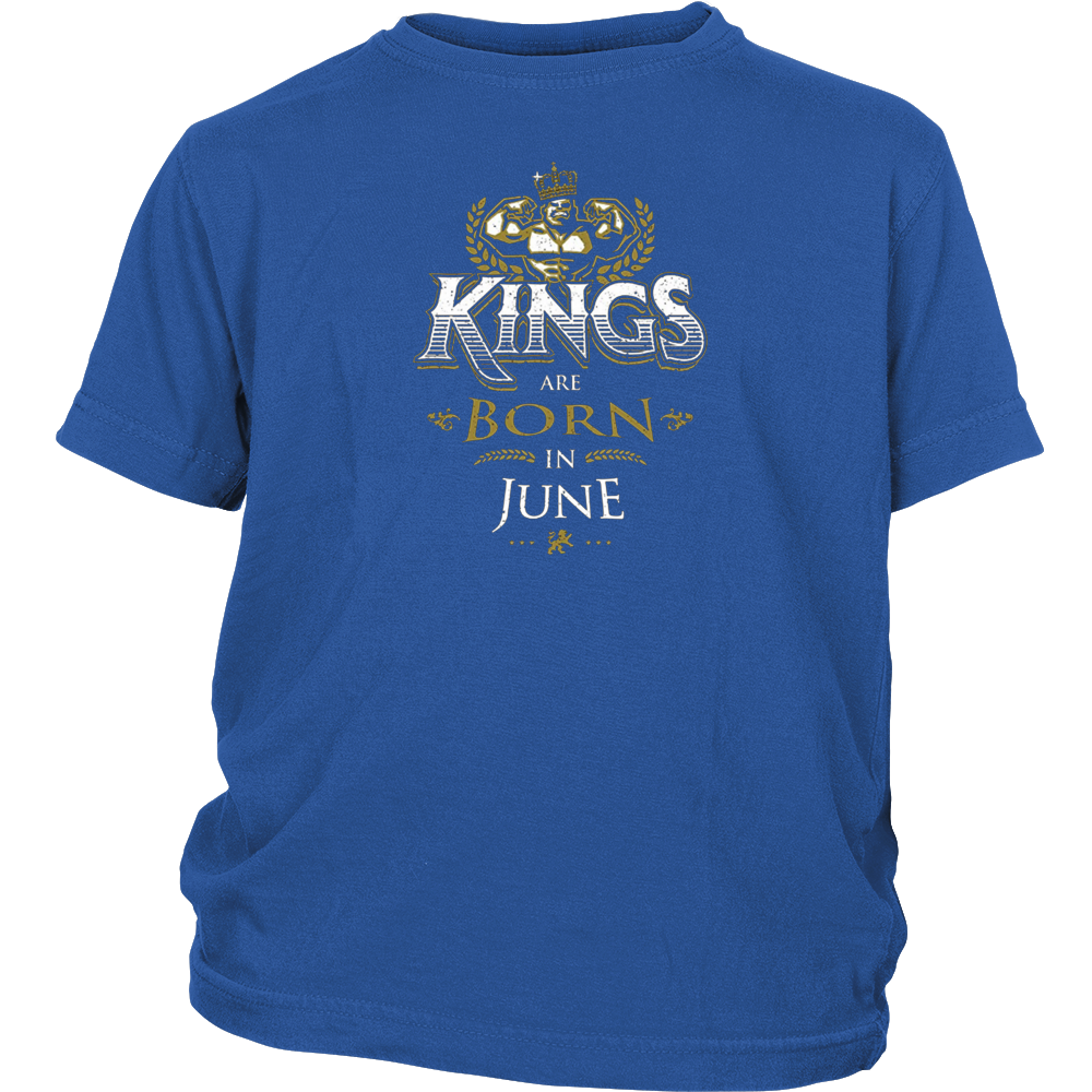 Kings Are Born in June Shirt Birthday Gifts for Men Boys