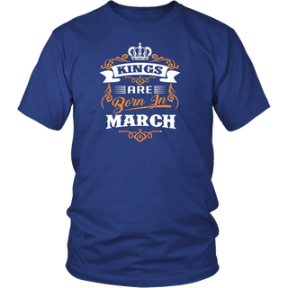 Kings Are Born In March T shirt Birthday T shirt