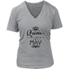 Women's Queens are born in May T Shirt Hoodie Tank Top