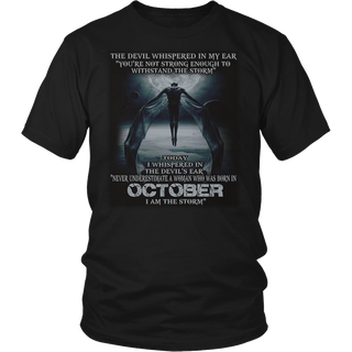 The Devil - born in October - the storm - Woman T-shirt