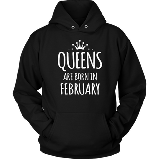 Queens are Born in February Cat lover Birthday gift T-Shirt