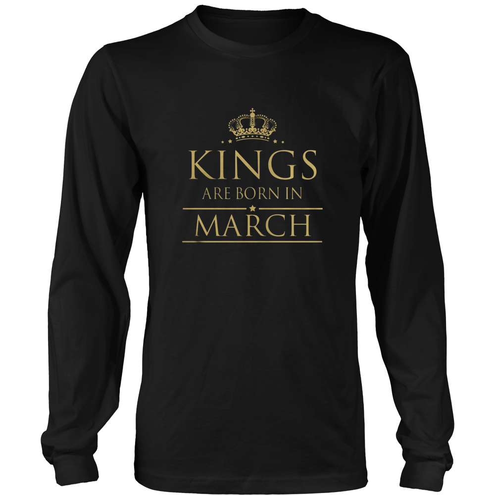 Kings Are Born In March T-Shirt from Birthday T-Shirts