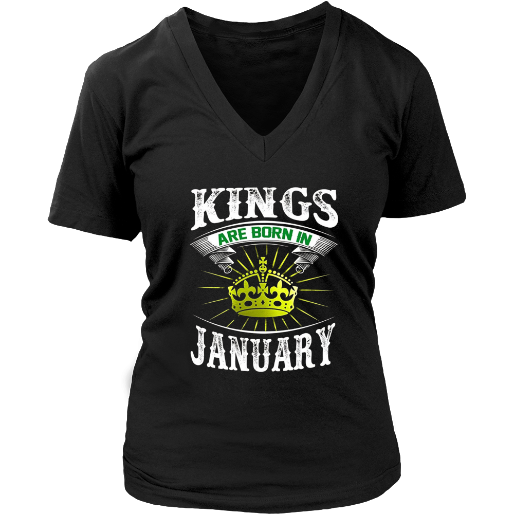 Kings Are Born In January Tshirt