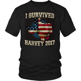 Hurricane Harvey T Shirt - I Survived Harvey 2017