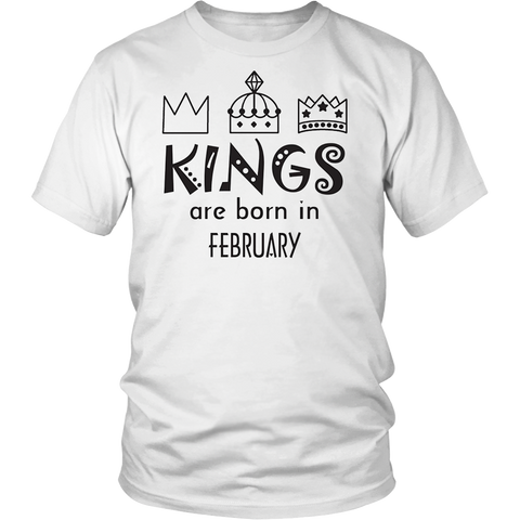 Kings are born in february - Men's birthday t-shirt