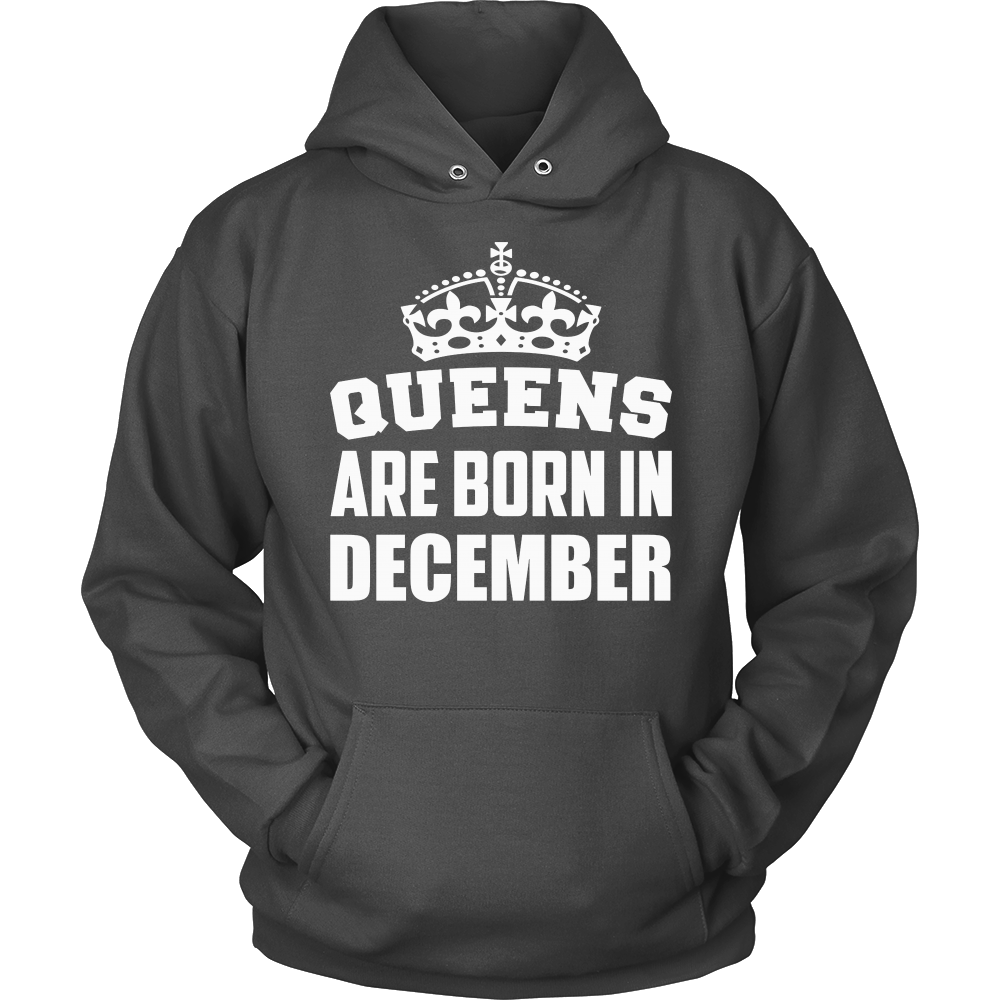 Women's Queens Are Born In December - Birthday T-Shirt