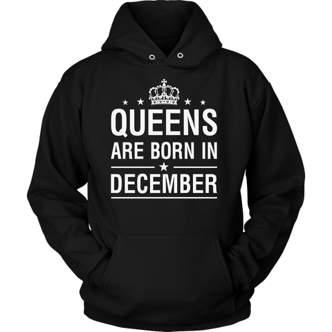 Queens Are Born In December - Birthday T-Shirt