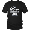 KINGS ARE BORN IN JULY TSHIRT